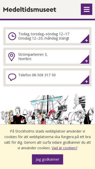 Mobile preview of medeltidsmuseet.stockholm.se