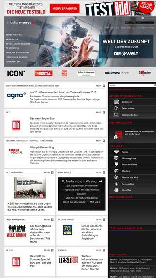 Mobile preview of mediaimpact.de