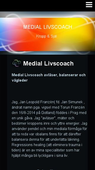 Mobile preview of mediallivscoach.n.nu