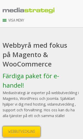 Mobile preview of mediastrategi.se