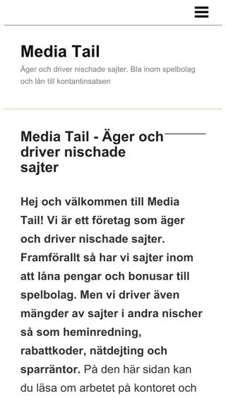 Mobile preview of mediatail.se