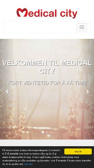 Mobile preview of medicalcity.no