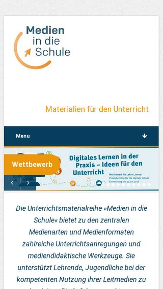 Mobile preview of medien-in-die-schule.de