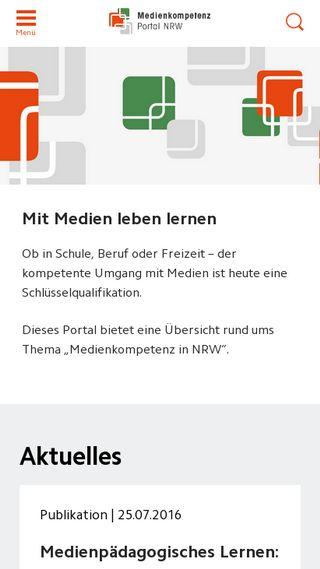 Mobile preview of medienkompetenzportal-nrw.de