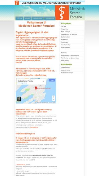 Mobile preview of medisinsksenterfornebu.no