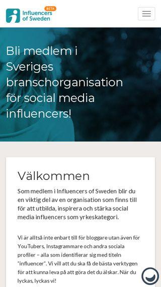 Mobile preview of medlem.influencersofsweden.se