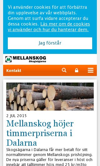 Mobile preview of mellanskog.se
