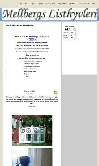 Mobile preview of mellbergslist.se