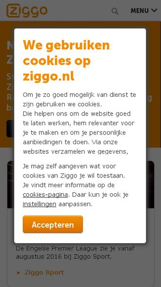 Mobile preview of members.chello.nl