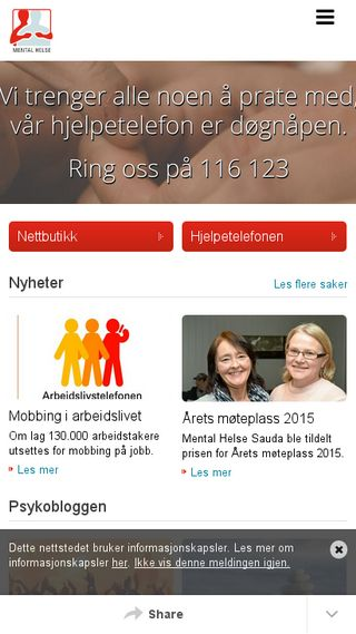 Mobile preview of mentalhelse.no