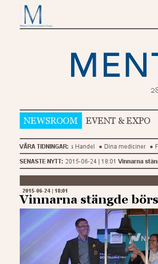 Mobile preview of mentornewsroom.se