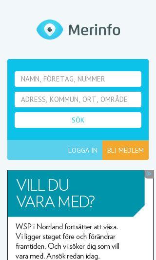 Mobile preview of merinfo.se