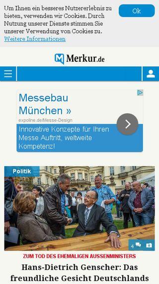 Mobile preview of merkur.de