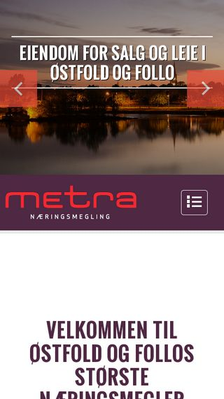 Mobile preview of metra.no