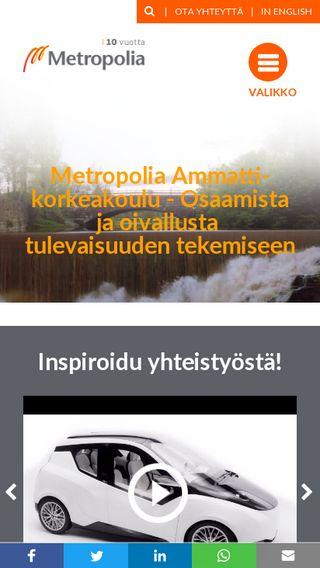 Mobile preview of metropolia.fi