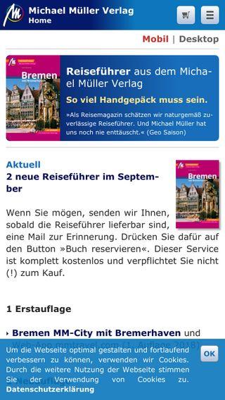 Mobile preview of michael-mueller-verlag.de