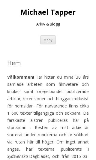 Mobile preview of michaeltapper.se