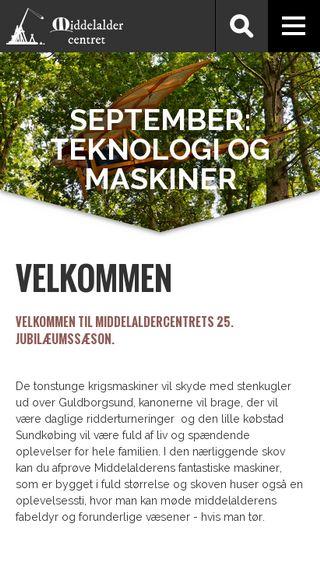 Mobile preview of middelaldercentret.dk