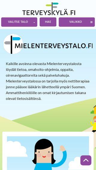 Mobile preview of mielenterveystalo.fi