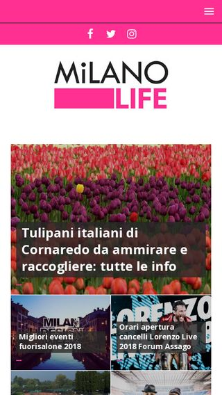 Mobile preview of milanolife.it