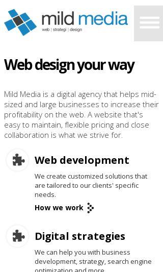 Mobile preview of mildmedia.se