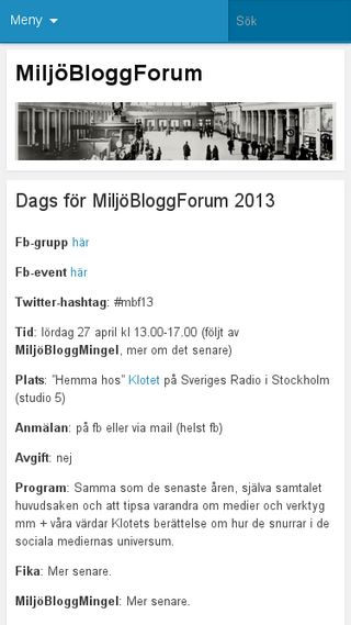 Mobile preview of miljobloggforum.wordpress.com
