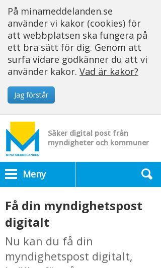 Mobile preview of minameddelanden.se