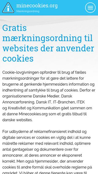 Mobile preview of minecookies.org