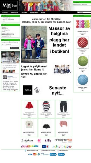Mobile preview of minibee.se