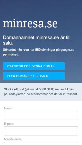 Mobile preview of minresa.se