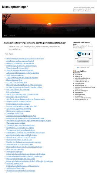 Mobile preview of missuppfattningar.se