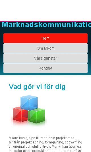 Mobile preview of mkom.se