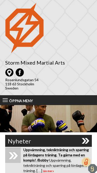 Mobile preview of mmastorm.se