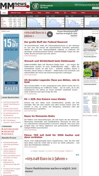 Mobile preview of mmnews.de