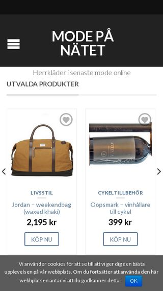 Mobile preview of modepanatet.se