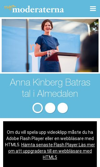 Mobile preview of moderaterna.se