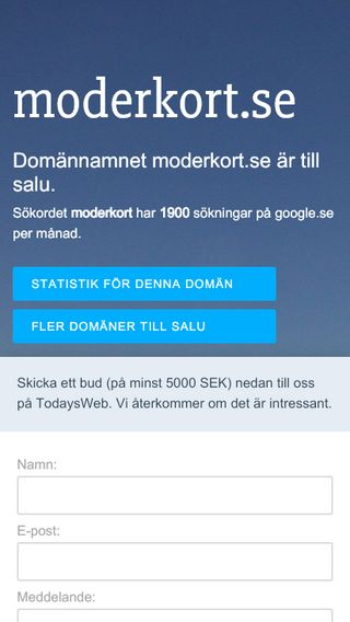 Mobile preview of moderkort.se