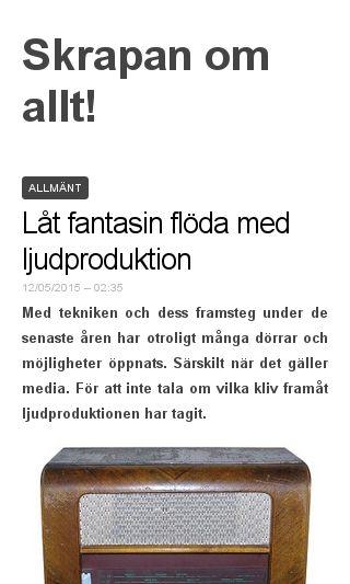 Mobile preview of modeskrapan.se