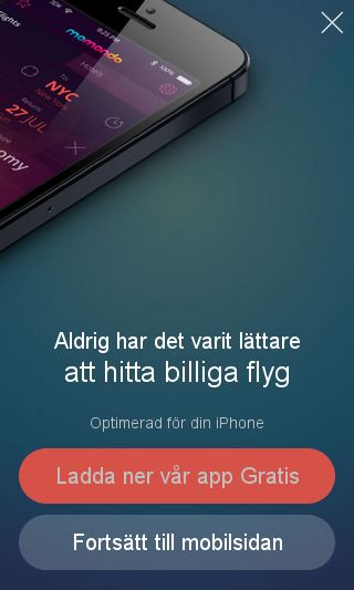 Mobile preview of momondo.se