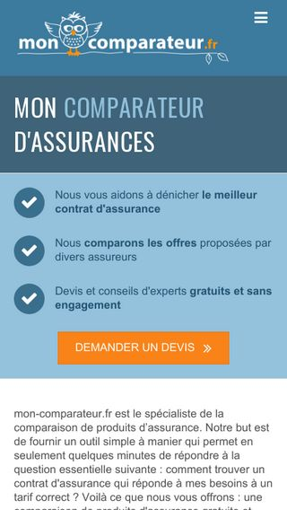 Mobile preview of mon-comparateur.fr