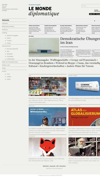 Mobile preview of monde-diplomatique.de