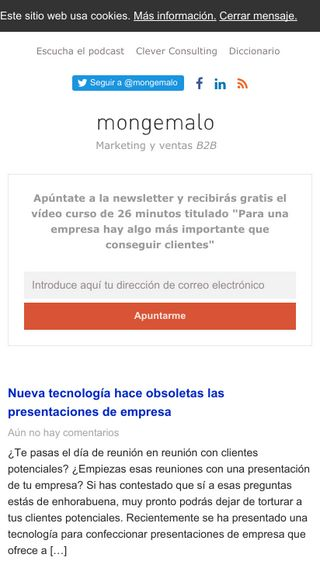 Mobile preview of mongemalo.es