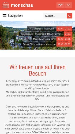 Mobile preview of monschau.de