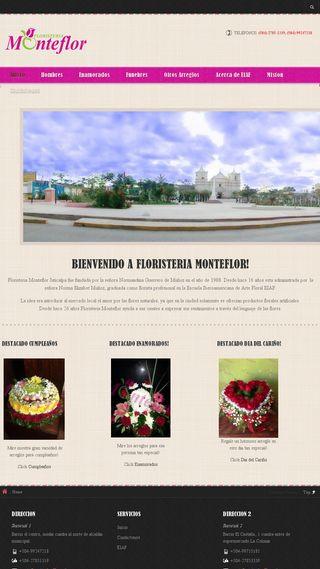 Mobile preview of monteflorfloristeria.com