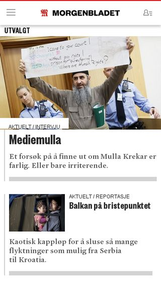 Mobile preview of morgenbladet.no