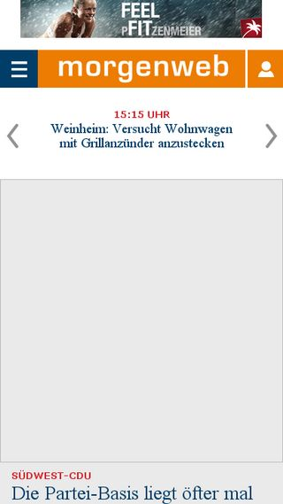 Mobile preview of morgenweb.de