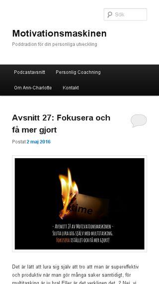 Mobile preview of motivationsmaskinen.se