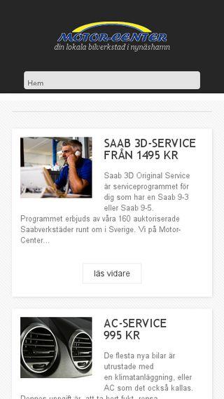Mobile preview of motor-center.se