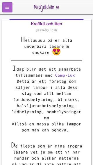Mobile preview of mrskjellstrom.se