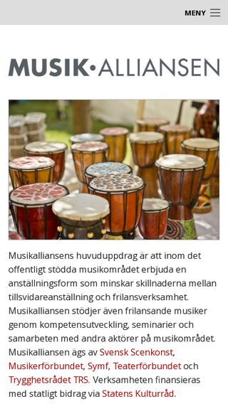 Mobile preview of musikalliansen.org